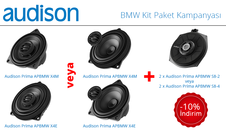 Audison BMW Kit Paket Kampanyası